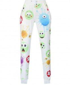 CL498-2 Pantaloni largi de trening cu model Emoji - Pantaloni Lungi - Haine > Haine Femei > Pantaloni Dama > Pantaloni Lungi