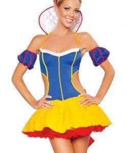 E149 Costum Tematic - Alba ca Zapada - Basme si Legende - Haine > Haine Femei > Costume Tematice > Basme si Legende