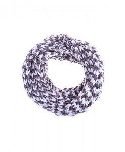 Fular circular Macy white khaki - Genti > Accesorii -