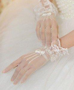 GL11-2 Manusi elegante cu dantela si plasa - Manusi - Haine > Haine Femei > Produse Mirese > Accesorii > Manusi