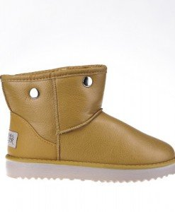 Ghete stil UGG Empire cu blanita detasabila camel - Home > GHETE -