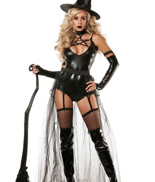 H425-1 Costum tematic Halloween – vrajitoarea cea rea – Vrajitoare – Vampir – Haine > Haine Femei > Costume Tematice > Vrajitoare – Vampir