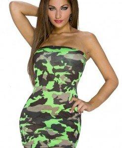 J401-12 Rochie scurta sexy cu model camuflaj - Rochii de vara - Haine > Haine Femei > Rochii Femei > Rochii de vara