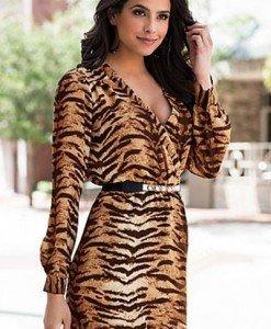 L316-99 Rochie scurta cu imprimeu leopard - Rochii accesorizate - Haine > Haine Femei > Rochii Femei > Rochii de club > Rochii accesorizate
