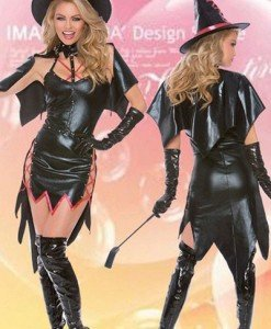 L414-1 Costum tematic Halloween - vrajitoare sexy - Vrajitoare - Vampir - Haine > Haine Femei > Costume Tematice > Vrajitoare - Vampir
