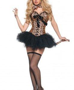 M219 Costum tematic de felina cu corset si fusta - Feline - Haine > Haine Femei > Costume Tematice > Animalute > Feline
