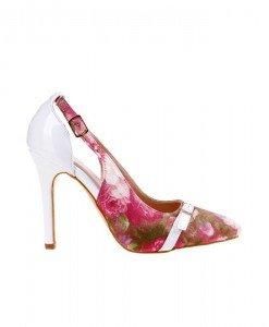 Pantofi Anuba white red - Home > Pantofi -