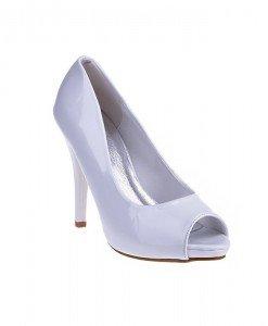 Pantofi Dorotheea alb/pat - Home > Pantofi -