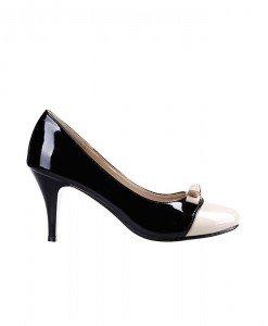 Pantofi Hill black beige - Home > Pantofi -