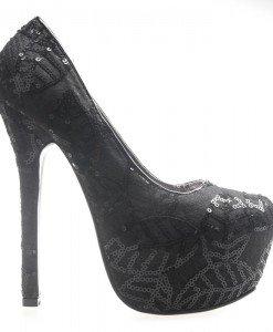 Pantofi cu paiete negrii Juandalynn - Home > Pantofi -