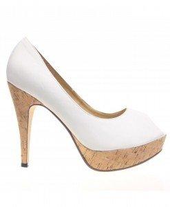 Pantofi dama albi Lana - Home > Reduceri -