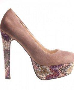 Pantofi dama khaki Julie - Home > Reduceri -