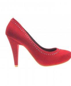 Pantofi dama red Velvet - Home > Reduceri -
