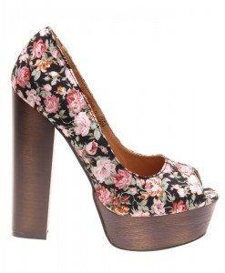 Pantofi de dama black peep toe Welcome Spring - Home > Reduceri -