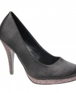 Pantofi de dama black satin Feeling Good - Home > Reduceri -