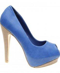 Pantofi de dama blue Hellen - Home > Reduceri -