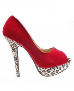 Pantofi de dama red suede Crush - Home > Reduceri -