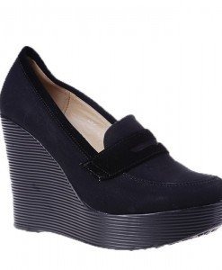 Pantofi platforma Doria negri - Home > Pantofi -