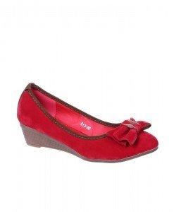 Pantofi rosii cu talpa ortopedica Mona - Home > Balerini -
