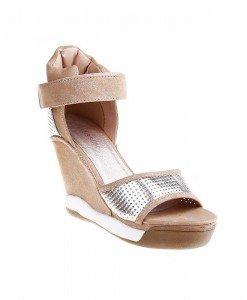 Platforme Sporty khaki/silver - Home > Sandale -