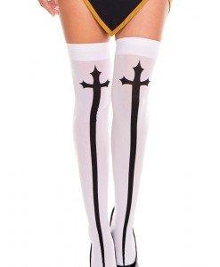 STK205-211 Ciorapi treisfert cu model cruce - Ciorapi dama - Haine > Haine Femei > Ciorapi si manusi > Ciorapi dama