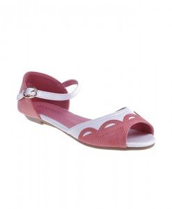 Sandale Adelheit corai/alb - Home > Sandale -