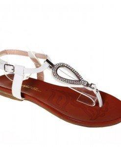 Sandale albe Viviene - Home > Sandale -