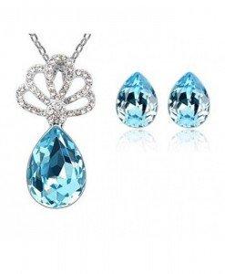 Set de bijuterii cu cristale Swarovski Forever Elegant - Genti  > Bijuterii -