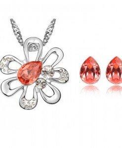 Set de bijuterii cu cristale Swarovski Magic Flower - Genti  > Bijuterii -