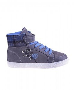 Sneakers copii Play grey blue - Home > Copii -