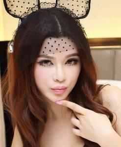 TOY99-1 Accesoriu cordeluta cu urechi model pisica - Palarii dama - Haine > Haine Femei > Accesorii > Palarii dama