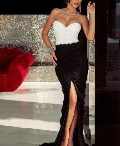 V370 Rochie lunga eleganta cu umerii goi