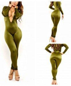 W290-12 Salopeta lunga cu dantela la spate - Salopete lungi - Haine > Haine Femei > Salopete > Salopete lungi