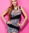 X168 - Rochie sexy de club model animal print - Rochii de club - Haine > Haine Femei > Rochii Femei > Rochii de club