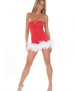 XM304 Rochie sexy cu tematica de Craciun - Costume de craciunita - Haine > Haine Femei > Costume Tematice > Costume de craciunita
