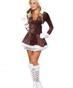 XM312-8 Costum de Craciunita cu gluga - Costume de craciunita - Haine > Haine Femei > Costume Tematice > Costume de craciunita
