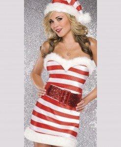 XM319-23 Costum tematic de Craciunita - model CandyCane (acadea) - Costume de craciunita - Haine > Haine Femei > Costume Tematice > Costume de craciunita