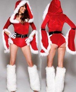 XM34 Costum craciunita sexi - Costume de craciunita - Haine > Haine Femei > Costume Tematice > Costume de craciunita