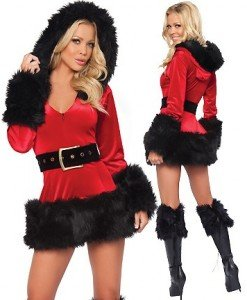 XM90 Costum craciunita sexi - Costume de craciunita - Haine > Haine Femei > Costume Tematice > Costume de craciunita