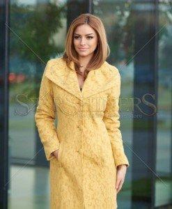 Palton LaDonna Elegant Look Gold - Paltoane -