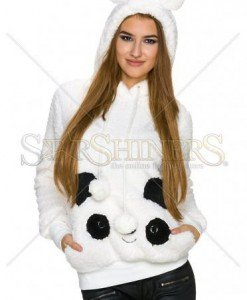 Pulover Fluffy Wear White - Pulovere -