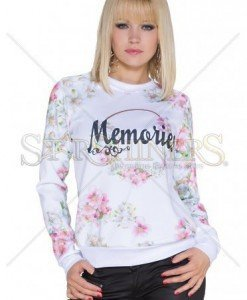 Pulover Living Memories White - Pulovere -