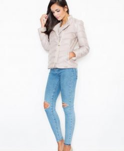 Beige Quilted Double Layered Bubble Jacket - Outerwear > Jackets and coats -