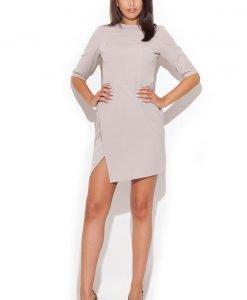 Beige Stunning Skirt Strut Day Dress - Dresses -