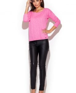Black Skinny Fit Pants with Twin Hip Pockets - Trousers -