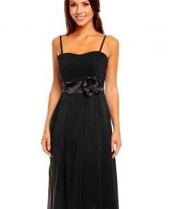 Black Sweet Sling Prom Dress with Stunning Waistband - Dresses -