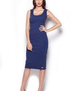 Blue Boxy Sleeve Tube Shirt Dress - Dresses -