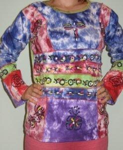 Bluza bumbac Purple Love 11 - Colectii - Hippie & Etnic