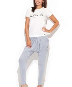 Drop Crotch Stretch Pleated Grey Pants - Trousers -