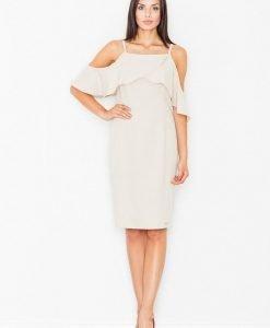 Elegant cream dress with caplet - Dresses -